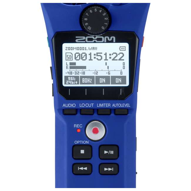 H1N-BLUE Zoom Handy Portable Wireless Digital Audio Recorder & Mike, Blue 3