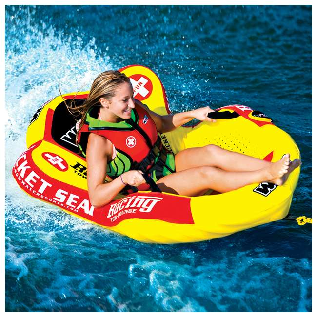 14-1090 WOW Watersports 14-1090 Bucket Seat Single Person Towable Tube with Handles 3
