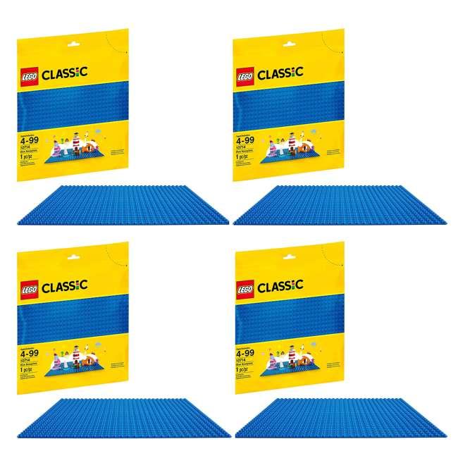 4 x 6213433 32 x 32 LEGO Baseplate, Blue (4 Pack)