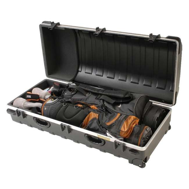 2SKB-5020W-U-A SKB Cases Double ATA Hard Plastic Wheeled Golf Bag Travel Case (Open Box)