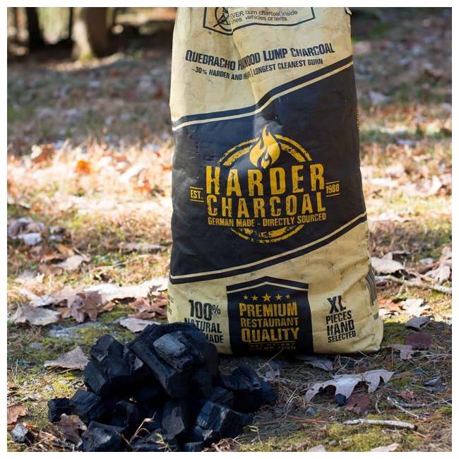 HAXLWC33 Harder Charcoal Natural XL Restaurant Style Lump Charcoal, 33 LB Bag (2 Bags) 2