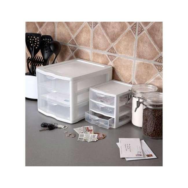 17918004 4 Sterilite ClearView Portable 3 Storage Drawer Organizer Cabinets (Open Box) 6