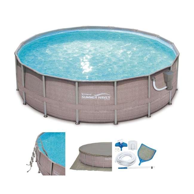 Summer waves elite 16 39 x 48 above ground frame pool set for Summer waves above ground pool review