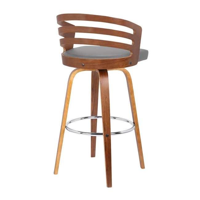 4 x LCJYBAGRWA30 Armen Living Jayden 30 Inch Mid Century Swivel Barstool Chair, Gray (4 Pack) 2