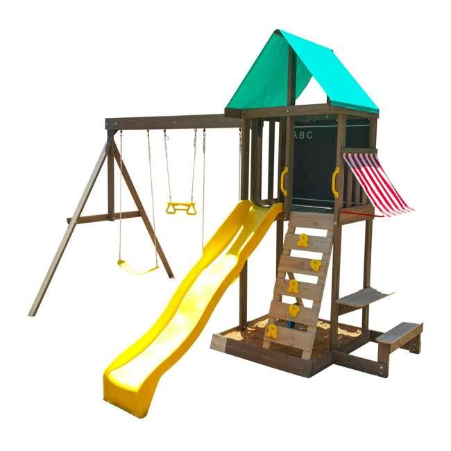 KDK-F29015 KidKraft Newport Wooden Playset with Swings and Slide