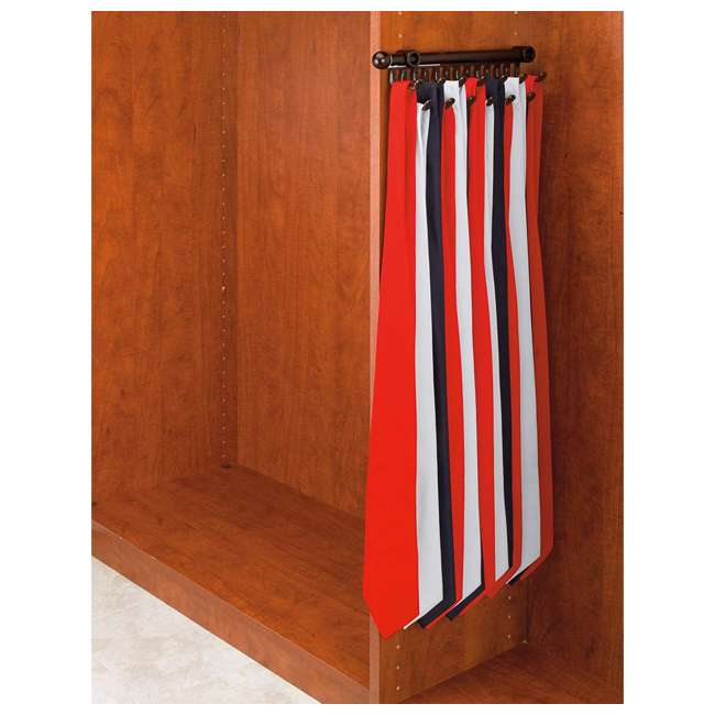 CTR-12-ORB Rev-A-Shelf CTR-12-ORB 12 in Chrome Pullout Tie and Scarf Rack Organizer, Bronze 1