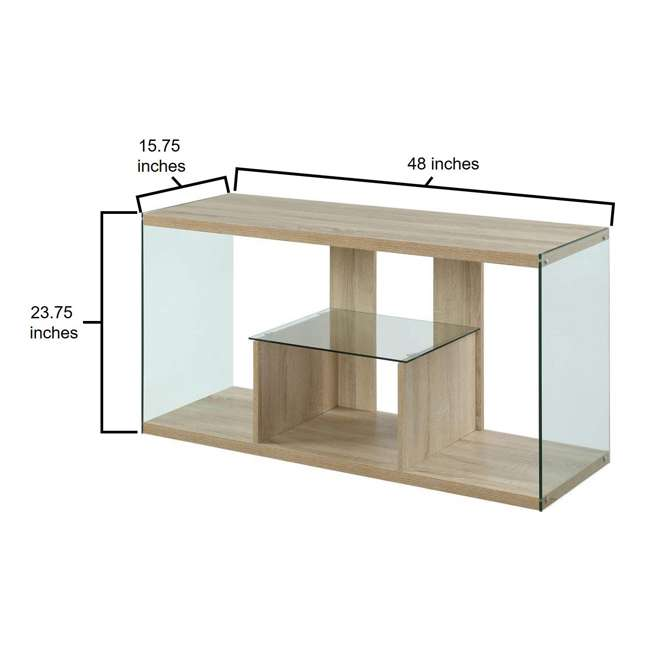R4-0192 Convenience Concepts Soho 50 Inch Wood TV Stand Console Table, Weathered White 3
