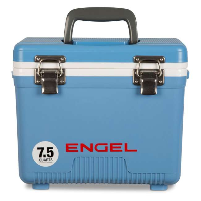 UC7B Engel 7.5-Quart EVA Gasket Seal Ice and DryBox Cooler with Carry Handles, Blue