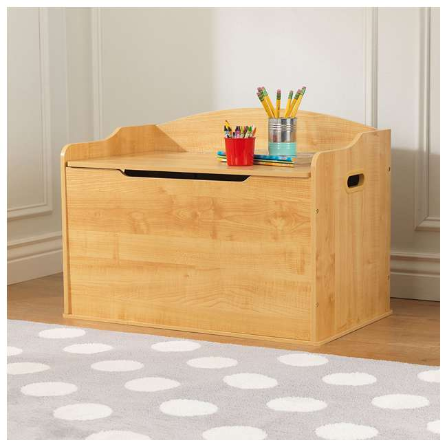 Kidkraft Austin Wooden Kids Storage Bench Toy Box Natural