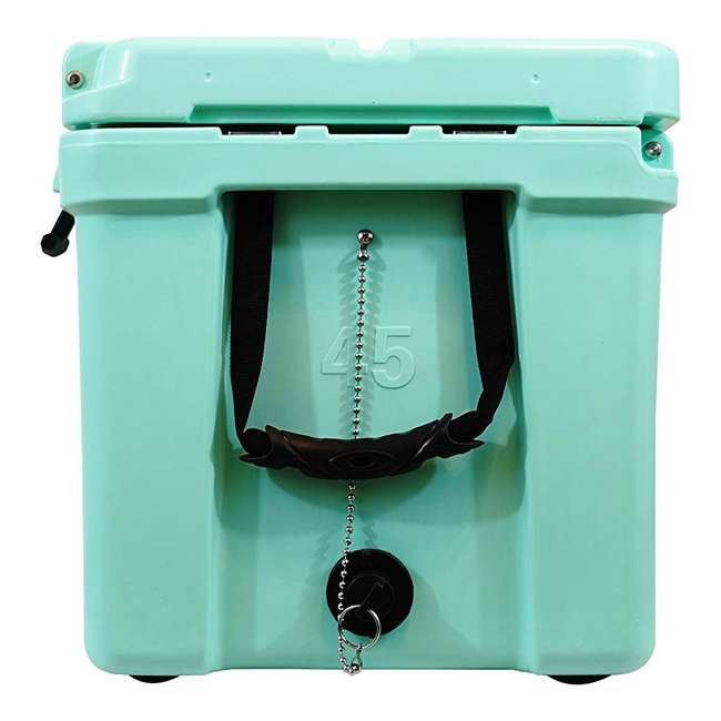 CKR-514256-U-D nICE 45 Quart Insulated Ice Chest Beverage Cooler with Handle, Seafoam (Damaged) 1