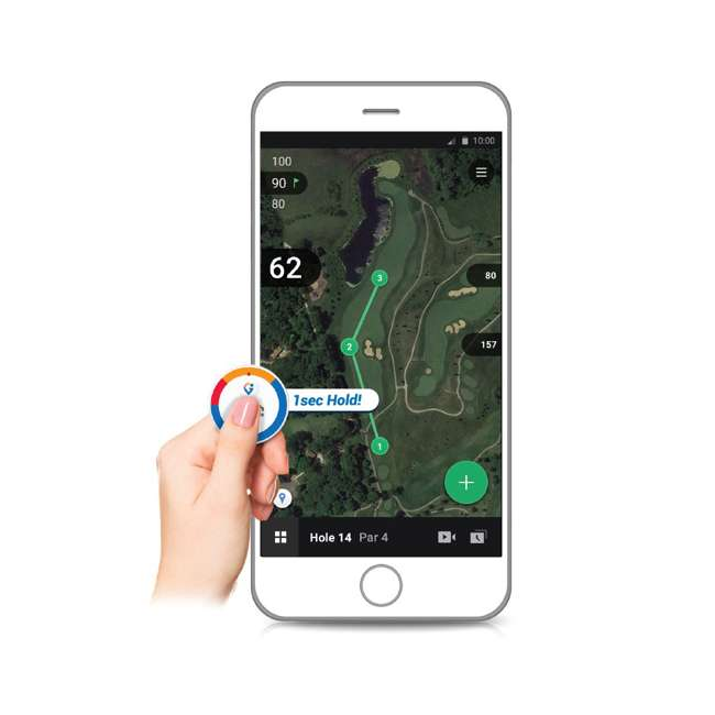 GB7-VOICE2-GREY + PGSMGps Golf Buddy Voice 2 Talking GPS Range Finder Golfwith Smart Marker Bluetooth Golf Shot Tracker 8