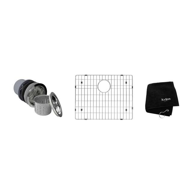 KHU101-23 Kraus 23-Inch Rectangular Undermount Stainless Steel Kitchen Sink (2 Pack) 5