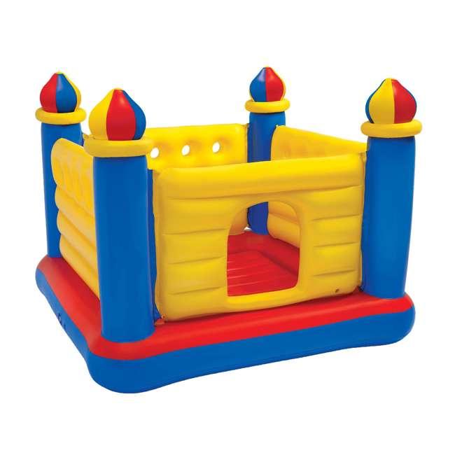 48259EP-U-A INTEX Inflatable Jump-O-Lene Ball Pit Castle Bouncer (Open Box) (2 Pack)