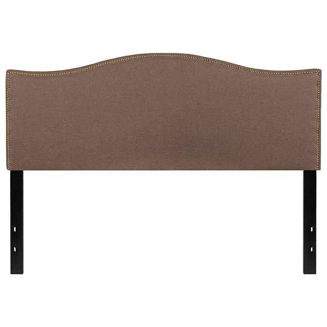 HG-HB1707-Q-C-GG Flash Furniture Lexington Upholstered Queen Size Headboard with Camel Fabric