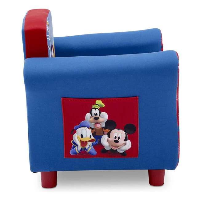 UP83509MM-1051 Delta Children Disney Mickey Mouse Upholstered Toddler Chair with Side Pockets 4