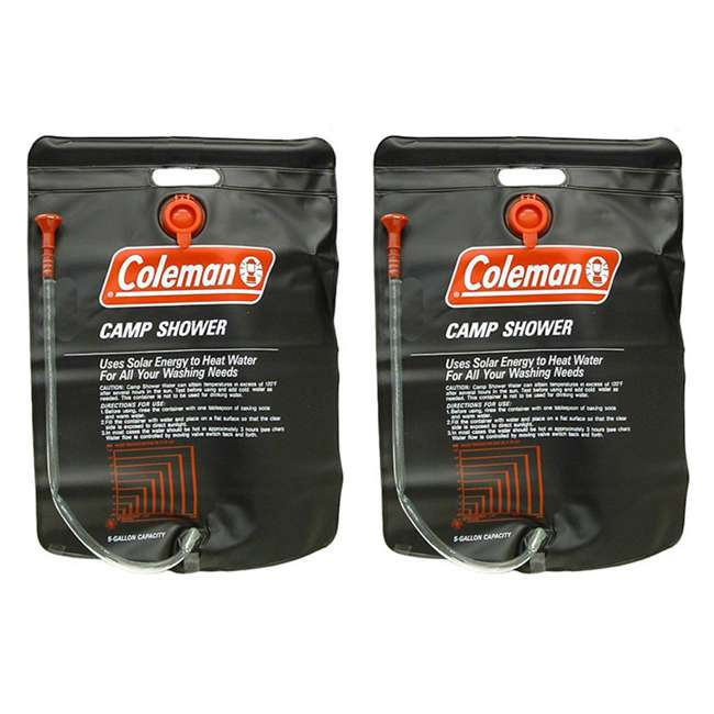 2000003481 Coleman Shower Bag - (2) Solar Heated 5 Gallon PVC Camp Showers