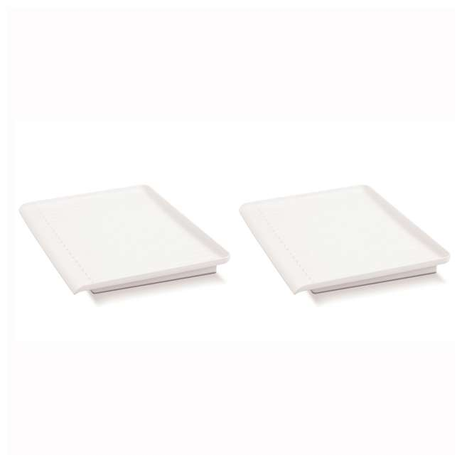 18114 Madesmart Elevated Counter-Top Draining Board, White (2 Pack)
