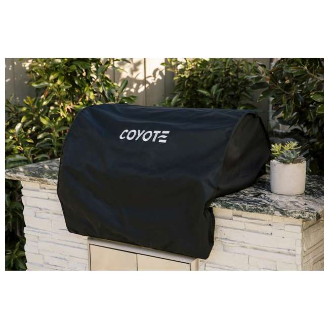 CCVR36-BI Coyote Outdoors 36 In Vinyl Protective Built In BBQ Barbecue Grill Cover, Black 1