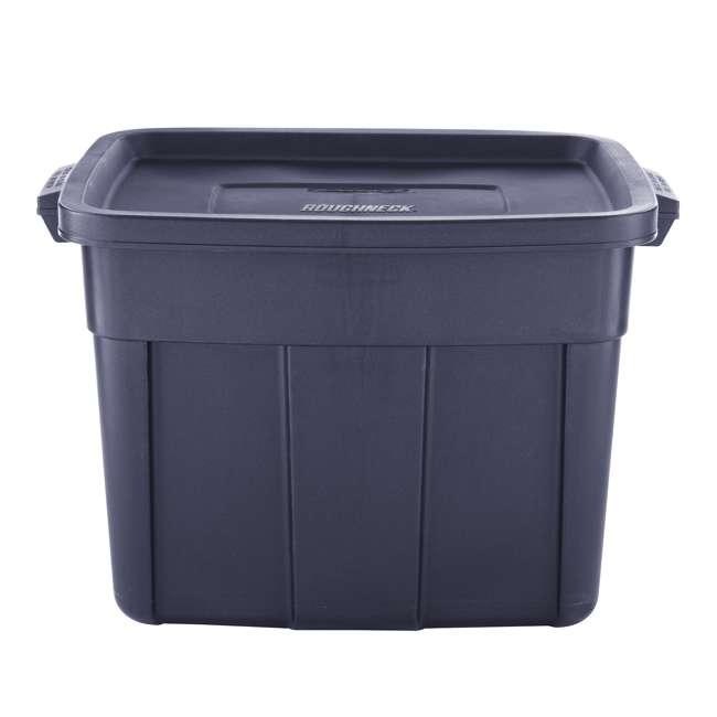 RMRT180051-6pack Rubbermaid Roughneck 18 Gallon Storage Tote, Dark Indigo Metallic (6 Pack) 2