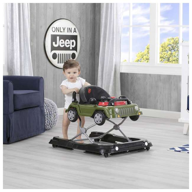 22408-348 Jeep Classic Wrangler 3 in 1 Activity Baby Walker & Toy Car, Anniversary Green 5