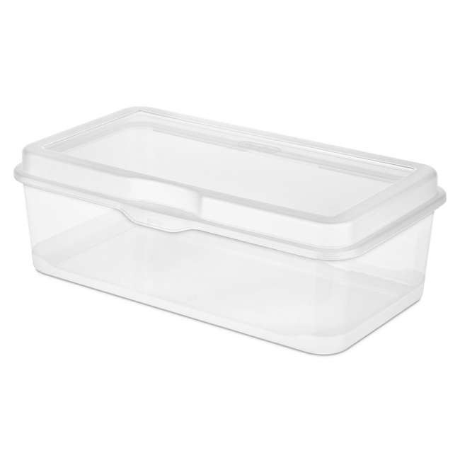 60 x 18058606 Sterilite 18058602 Plastic FlipTop Latching Storage Box Container Clear (60 Pack) 2