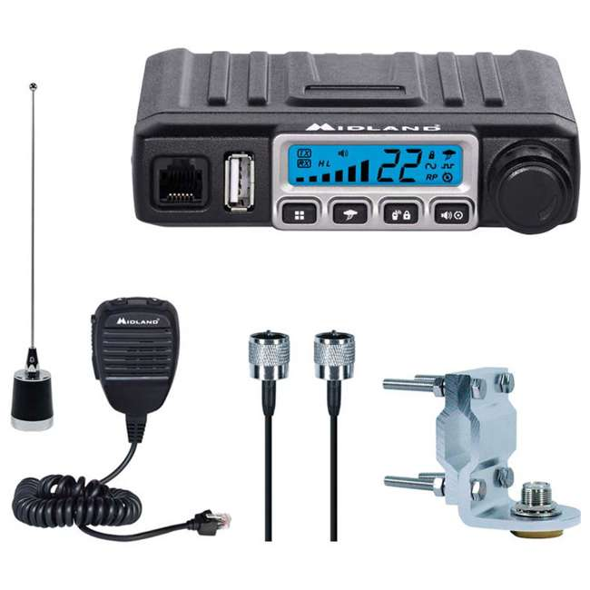 4 x MXT115VP3 Midland MicroMobile 15-Watt GMRS 2-Way Radio Kit (4 Pack) 1