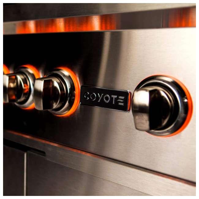 C2SL36NG Coyote C2SL36NG S Series 3 Burner 875 Square Inch Built In Natural Gas Grill 2
