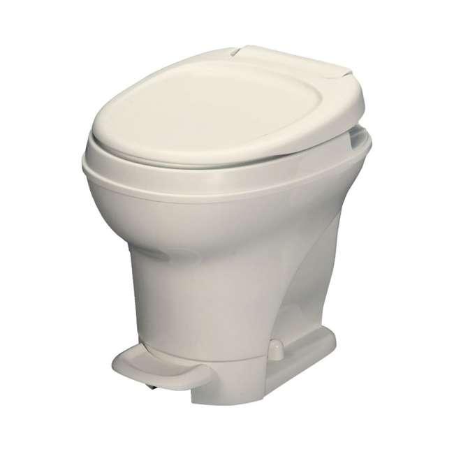 31672 Thetford 31672 Aqua Magic V Pedal Flush RV Travel High Profile Toilet, Parchment