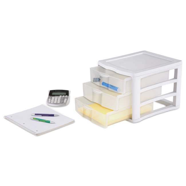 5 x 17918004 Sterilite ClearView Compact Portable 3 Storage Drawer Organizer Cabinet (5 Pack) 3