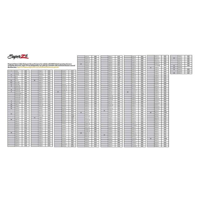 SZ429-U-A Super Z 6 Compact Cable Tire Snow Chain Set for Cars, Trucks, & SUVs (Open Box) 5