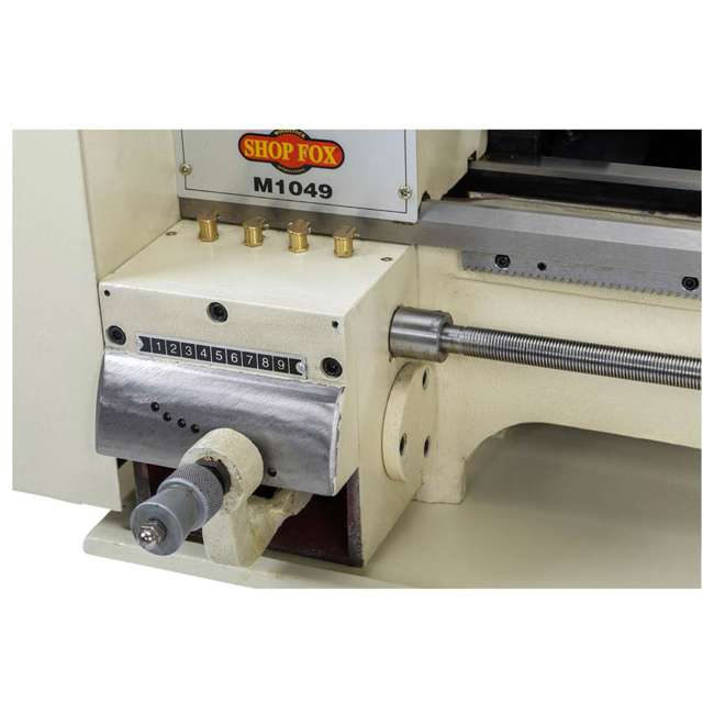 M1049 Shop Fox M1049 9 by 19 Inch Bench Top Metal Lathe with Three Jaw Scroll Chuck 2