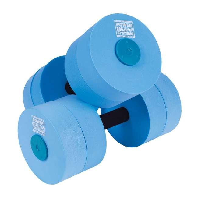 86560 Power Systems 86560 Blue Medium Resistance Foam Pool Water Aqua Dumbbell, Pair