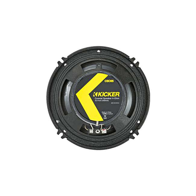 46CSC654 Kicker CS Series CSC65 6.5 Inch Car Audio Speaker with Woofers, Yellow (4 Pack) 3