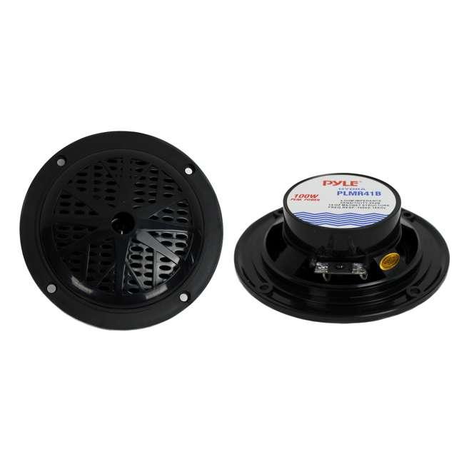 PLMR41B Pyle PLMR41B 4-Inch 100 Watt Dual Cone Waterproof Marine Speakers (Pair)