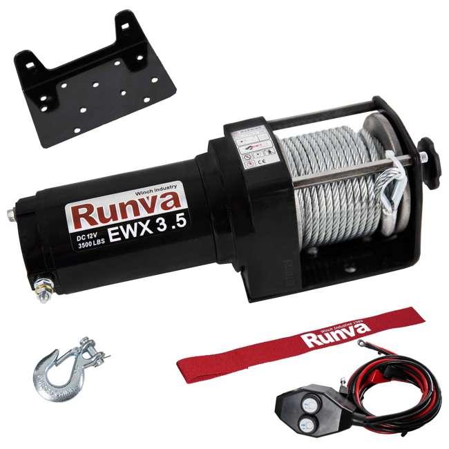 Runva 3500 Lbs Electric 12V ATV UTV Winch