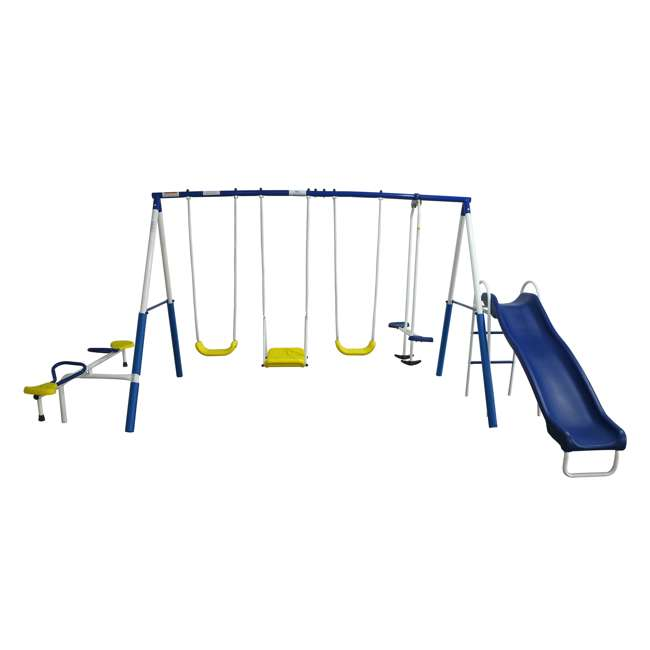 XDP-74320 + XDP-70113 XDP Playground Galore Kids Swing Set with Slide + Anchor Kit 2