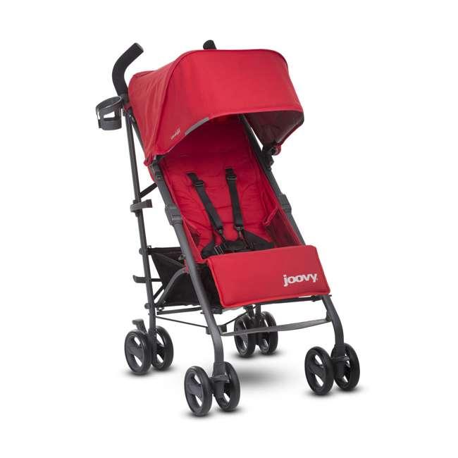 JVY-8121 Joovy Groove Ultralight Compact Canopy Umbrella Stroller, Red