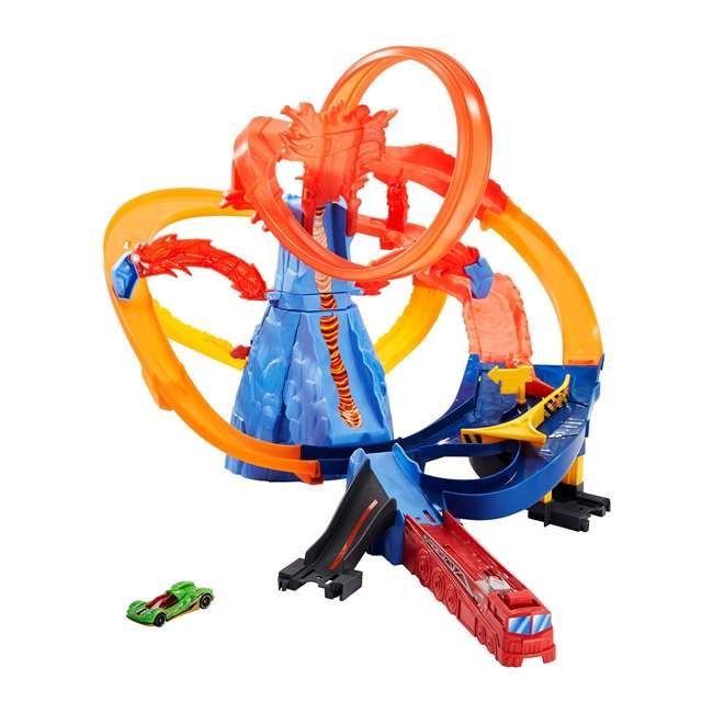 FTD61 Hot Wheels FTD61 Volcano Escape Connectable Play Set with Launcher and 1 Car