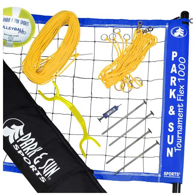 TS-FLEX-1000B Park & Sun Sports Tournament Flex 1000 Outdoor Volleyball Net Set