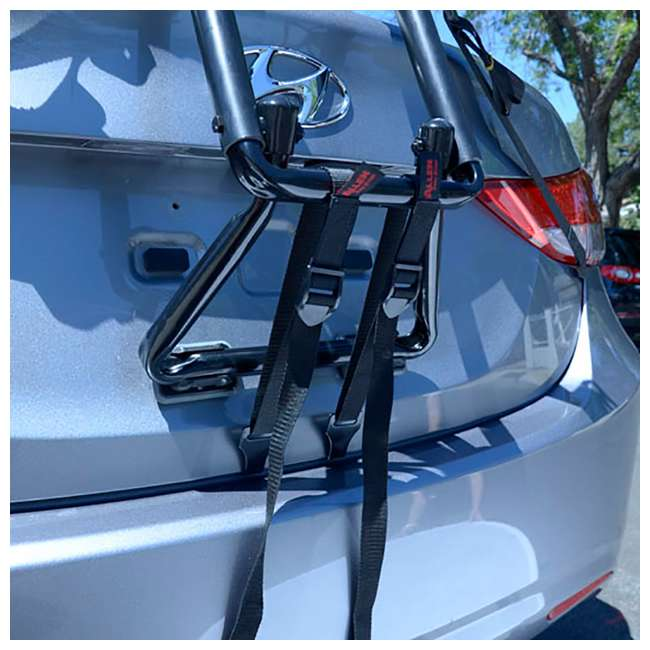 S-103-U-B Allen Sports 3 Bike Foldable Trunk Carrier with Tie Down Straps (Used) (2 Pack) 2