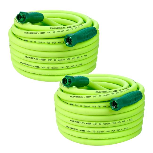 LEG-HFZG575YWS Flexzilla Garden Hose with SwivelGrip Connections, 5/8 Inch x 75 Feet (2 Pack)