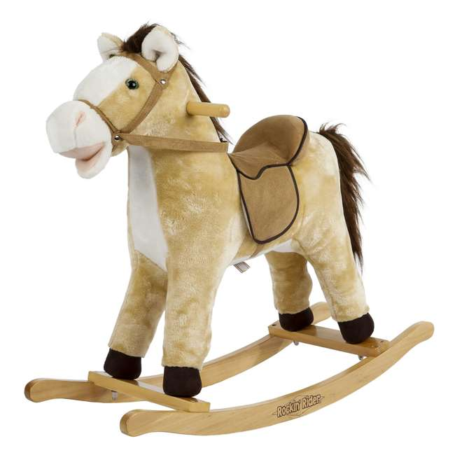 5-20401M-U-A Rockin' Rider Animated Toddler Toy Rocking Riding Sit On Plush Horse (Open Box)