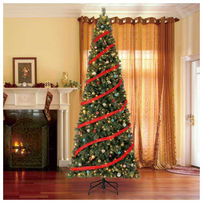 TGC0M3W92D00-U-A Home Heritage 12' Cascade PVC Christmas Tree & Changing LED Lights (Open Box) 2