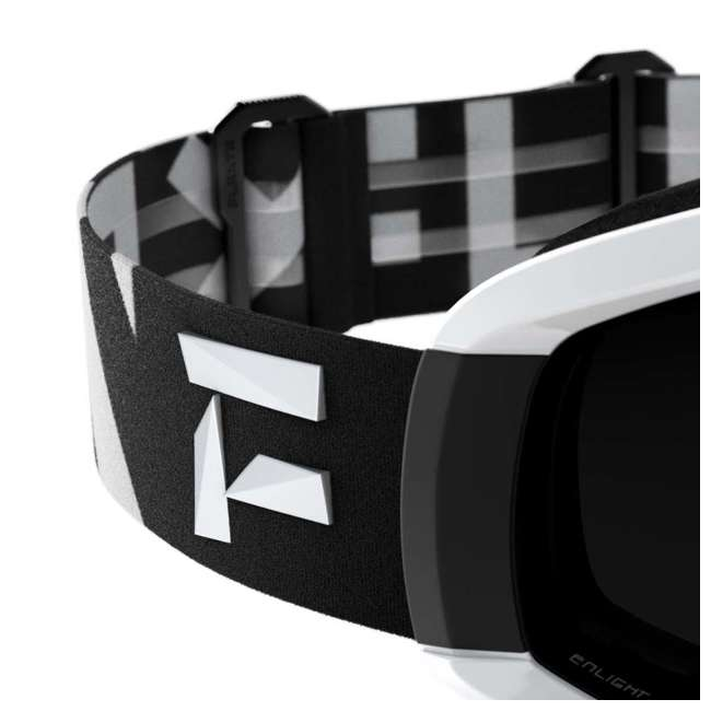 FX801001020ONE Flaxta Continuous Peripheral Vision Snowboard and Ski Goggles, Black and White 2