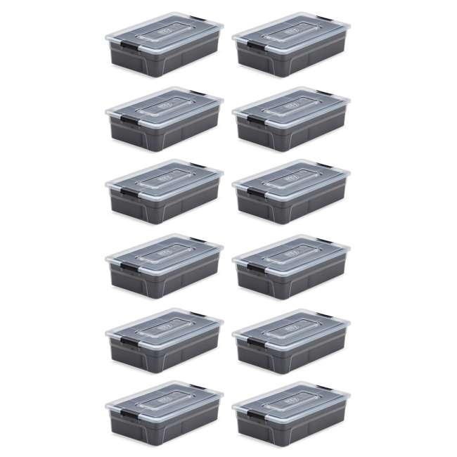 12 x FBA32233 Ezy Storage 5.6 Liter Sort It Container Box with Removable Tray Cups (12 Pack) 1