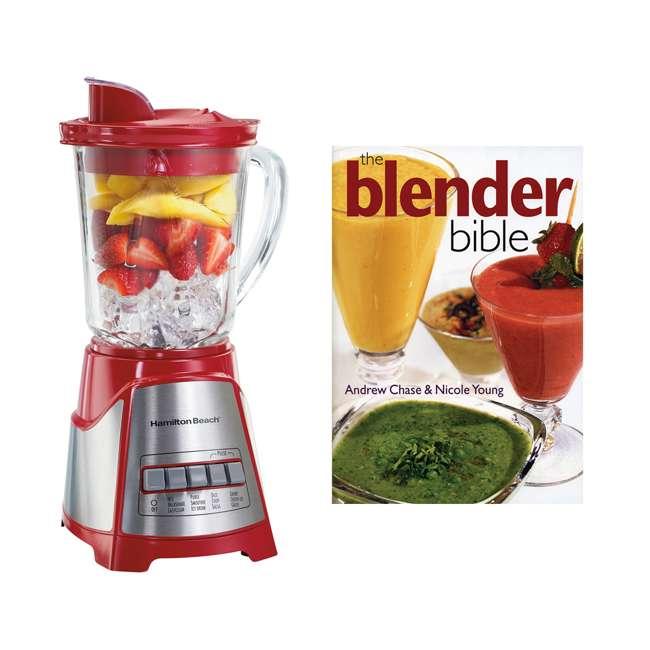 58147 + BLEND-BIBLE Hamilton Beach Multi Function Wave Action Blender w/ The Blender Bible Cookbook