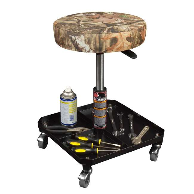 TOR-TR6350MO Torin Big Red Rolling Pneumatic Creeper Padded Stool, Camo (2 Pack) 2