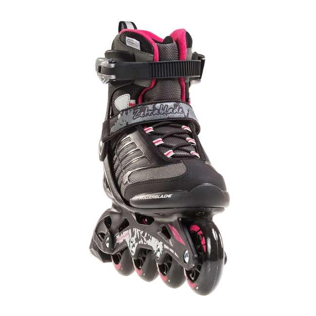 077369009V1-8 Rollerblade Zetrablade Womens W Adult Fitness Inline Skate Size 8, Black/Cherry 3