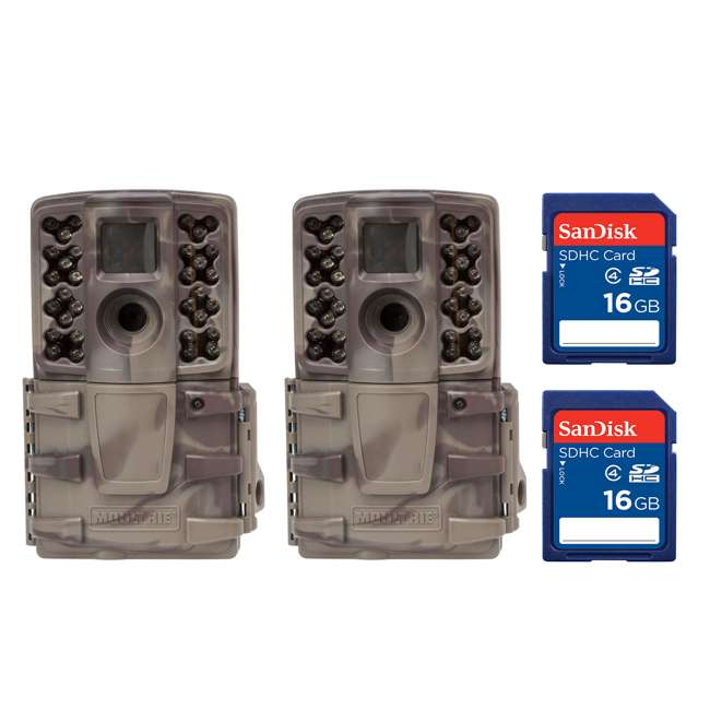 MCG-A20i + 2 x SD4-16GB-SAN (2) Moultrie No Glow Invisible 12 MP Mini A20i IR Game Cameras w/ SD Cards