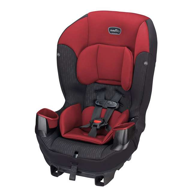 34812023 Evenflo Sonus 2 in 1 Convertible Travel Infant Baby Toddler Car Seat, Rocco Red